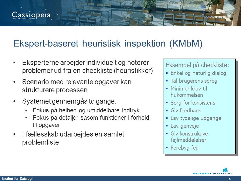 Ekspert-baseret heuristisk inspektion (KMbM)
