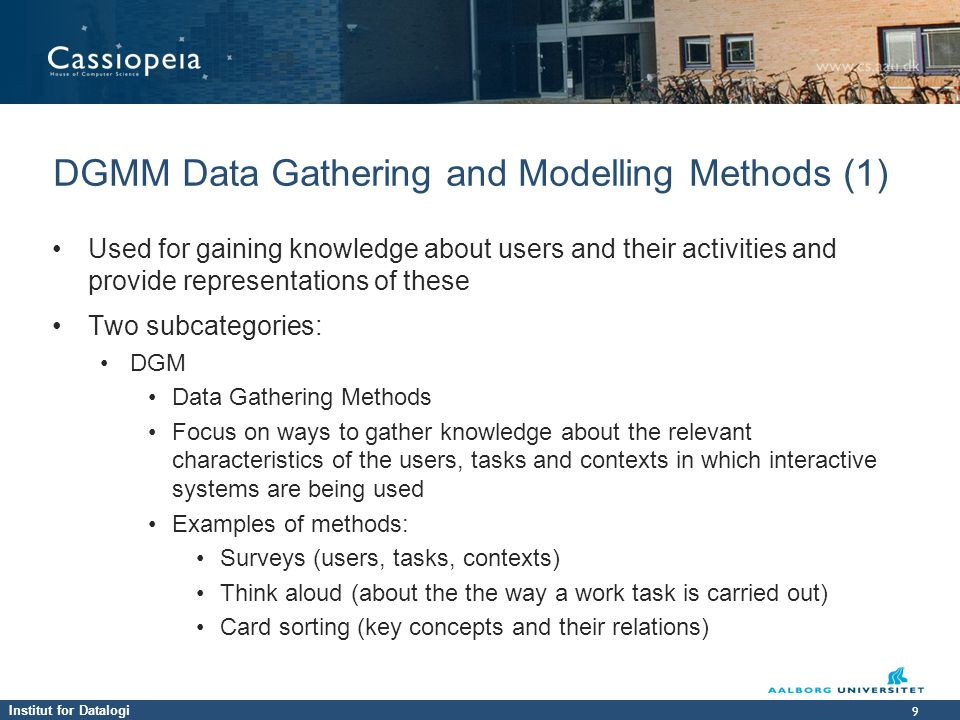 DGMM Data Gathering and Modelling Methods (1)