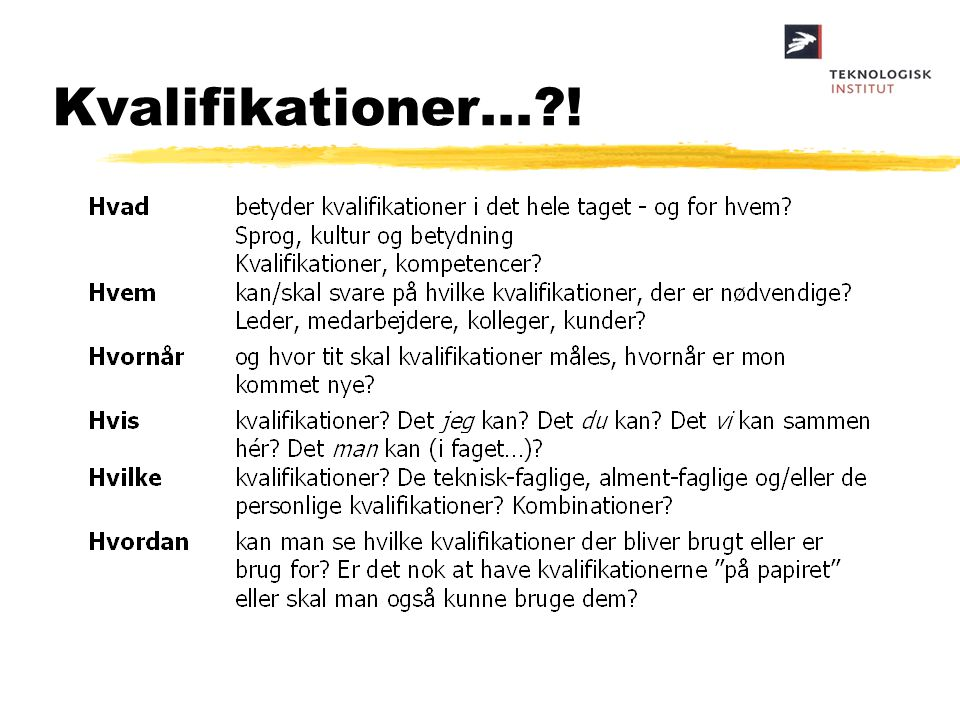 Kvalifikationer... !
