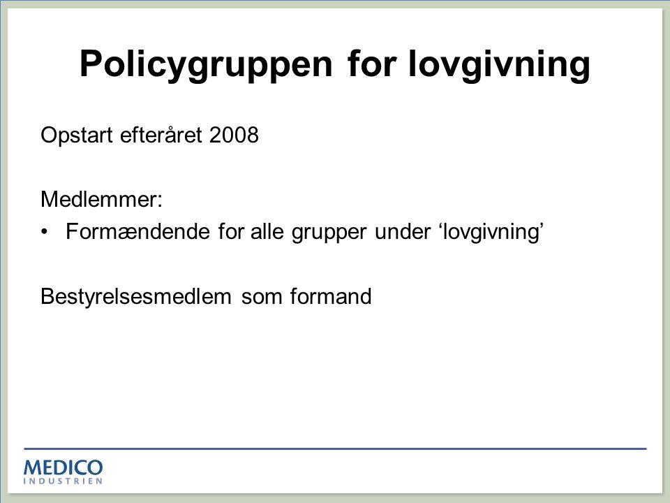 Policygruppen for lovgivning
