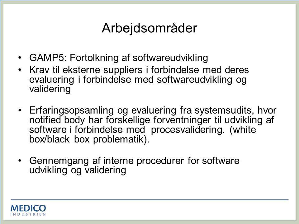 Arbejdsområder GAMP5: Fortolkning af softwareudvikling