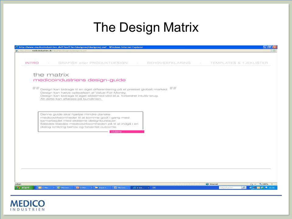 The Design Matrix