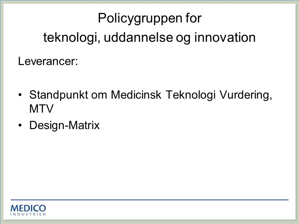 Policygruppen for teknologi, uddannelse og innovation