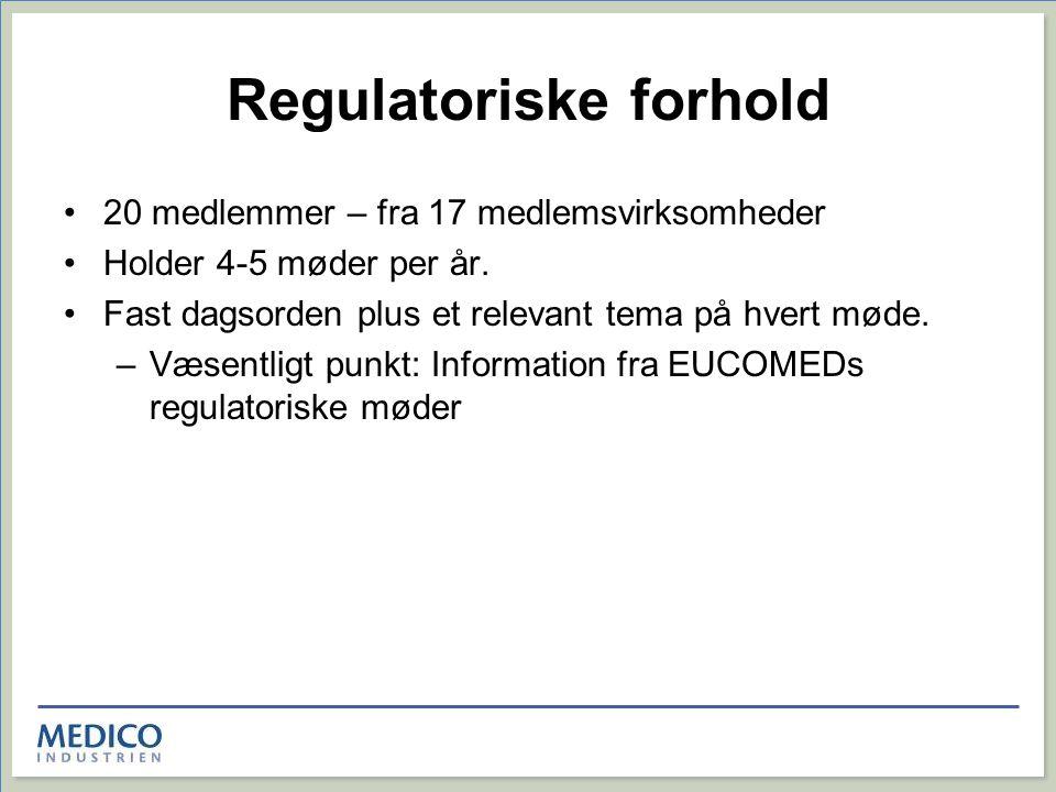 Regulatoriske forhold