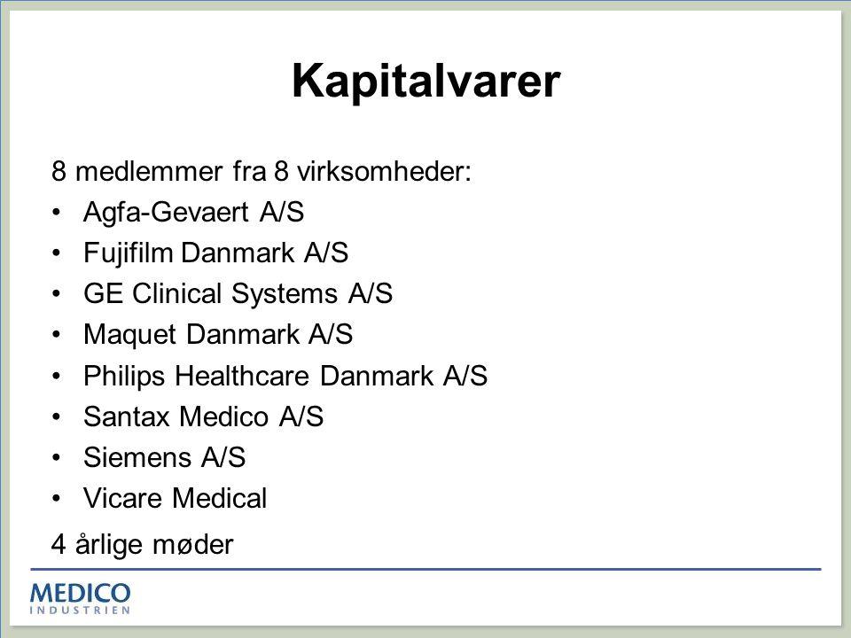Kapitalvarer 8 medlemmer fra 8 virksomheder: Agfa-Gevaert A/S