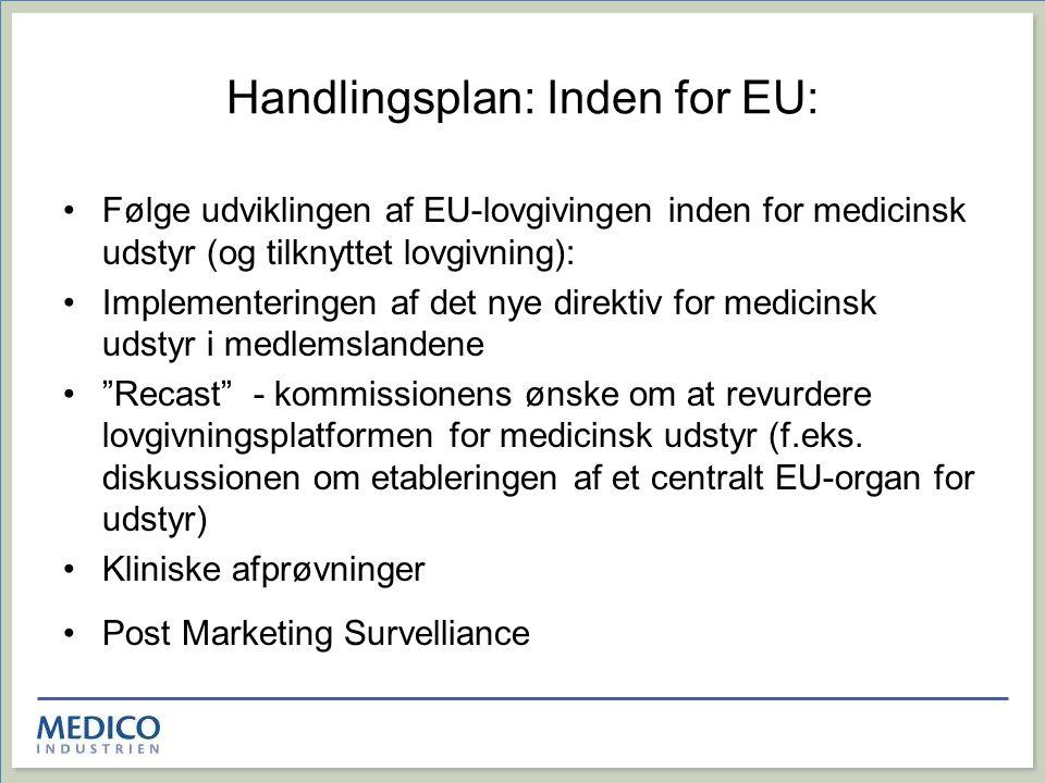 Handlingsplan: Inden for EU: