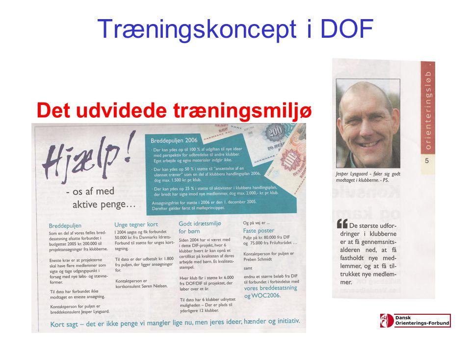 Træningskoncept i DOF Det udvidede træningsmiljø