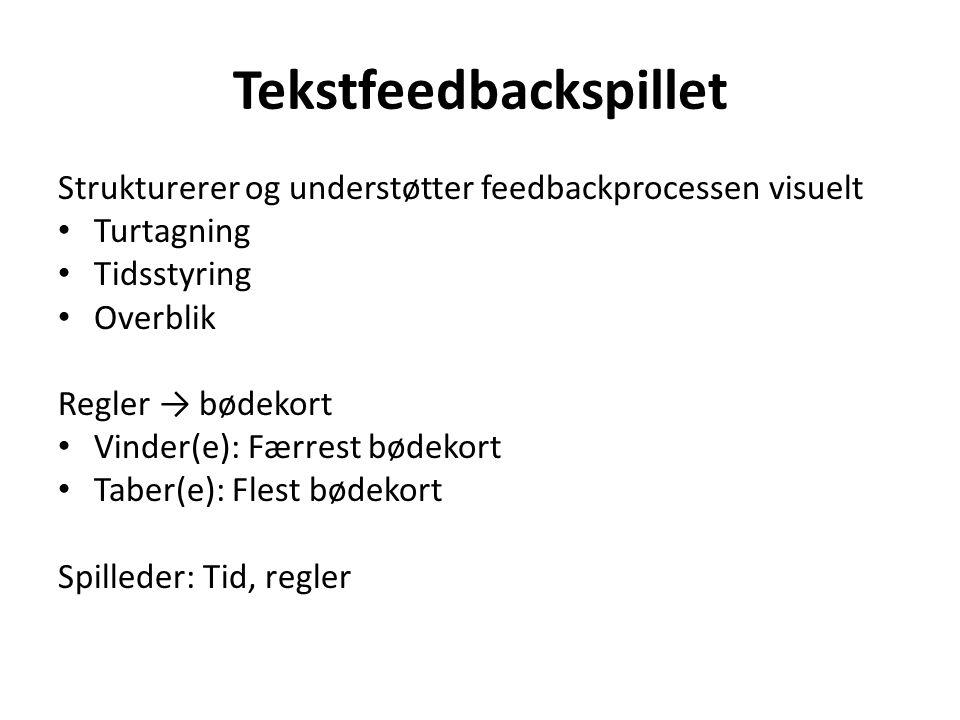 Tekstfeedbackspillet