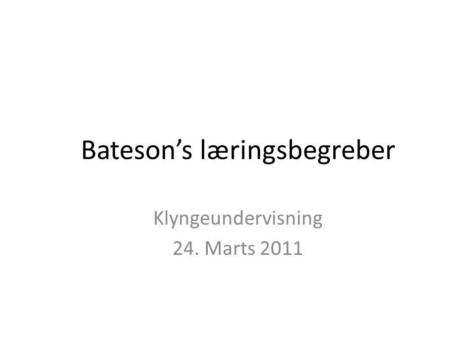 Bateson's læringsbegreber