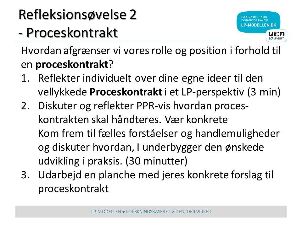 Refleksionsøvelse 2 - Proceskontrakt