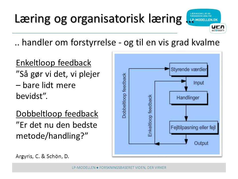 Læring og organisatorisk læring …