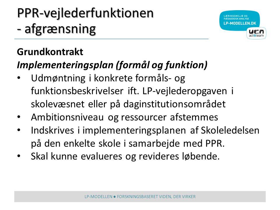 LP-MODELLEN ● FORSKNINGSBASERET VIDEN, DER VIRKER