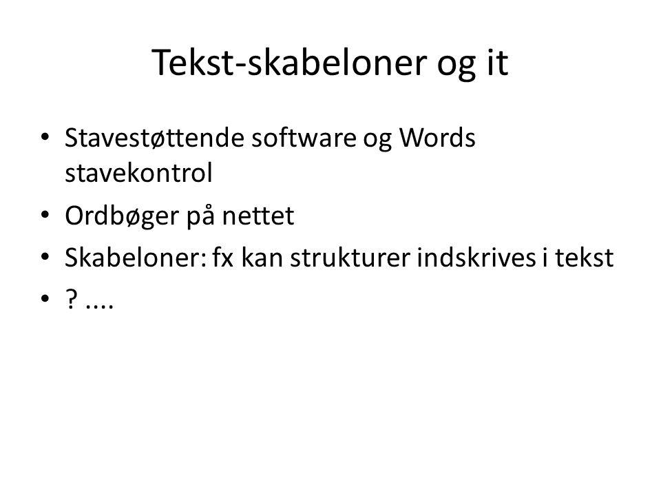 Tekst-skabeloner og it