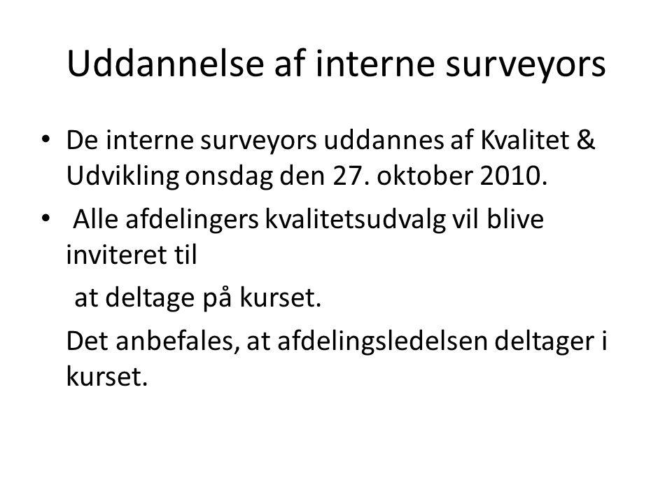 Uddannelse af interne surveyors