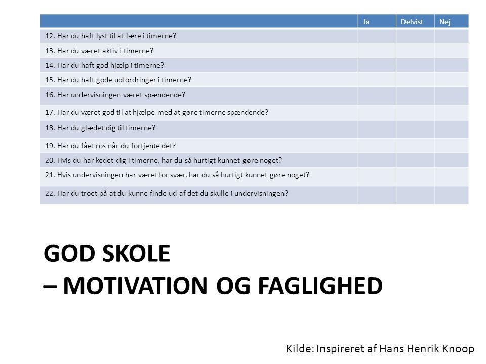 God skole – Motivation og faglighed