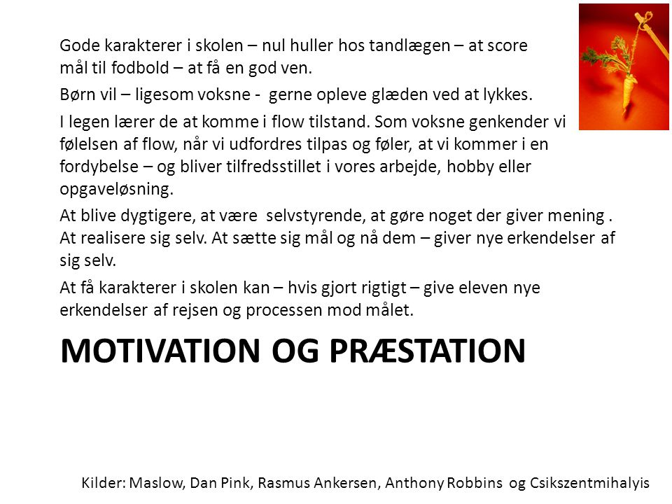 Motivation og præstation