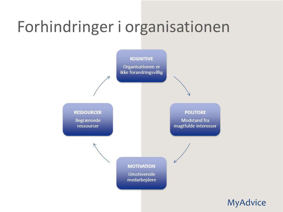Forhindringer i organisationen