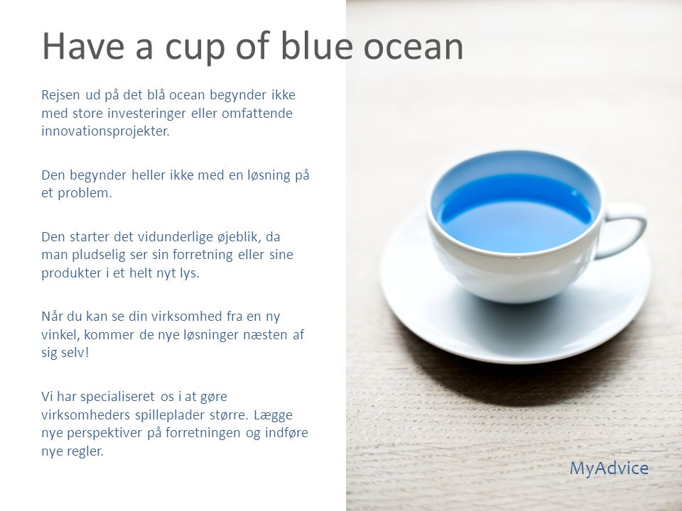 Have a cup of blue ocean MyAdvice