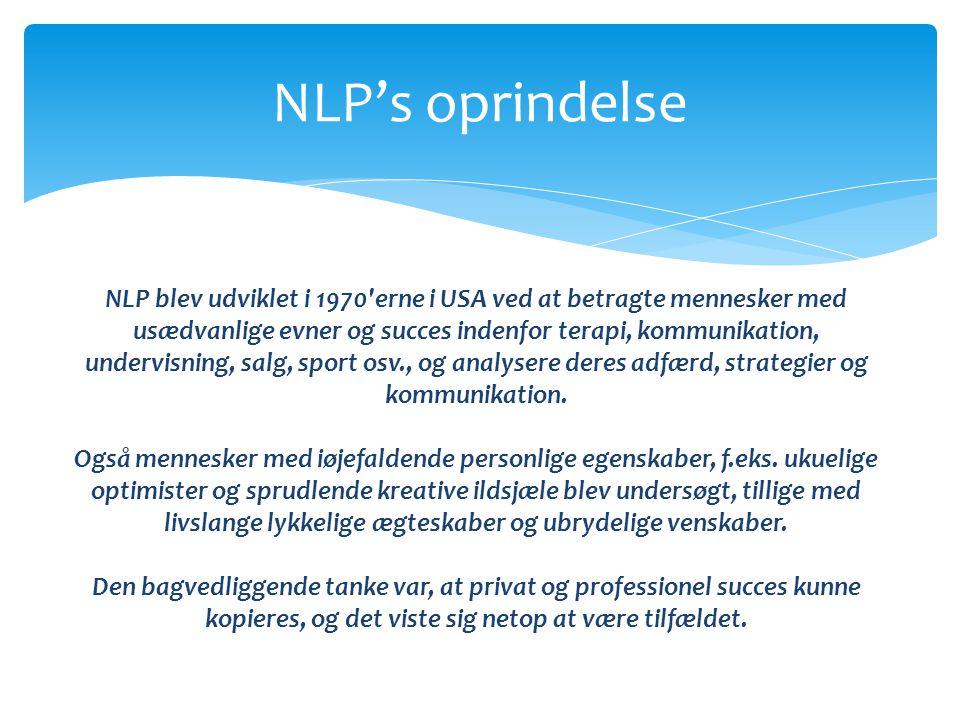 NLP's oprindelse