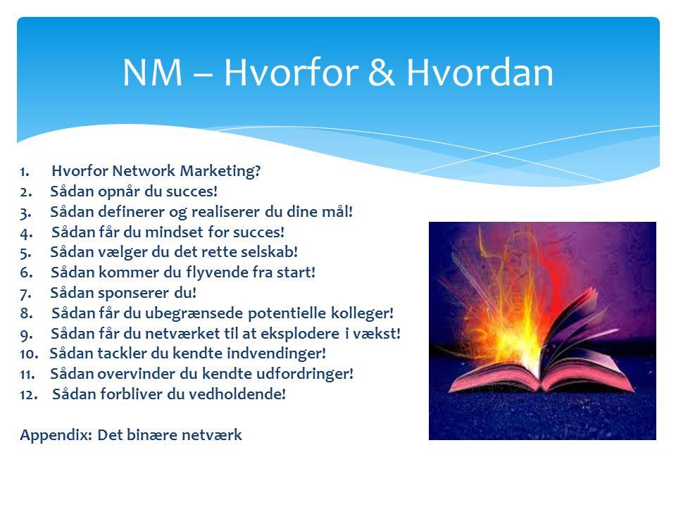 NM – Hvorfor & Hvordan 1. Hvorfor Network Marketing