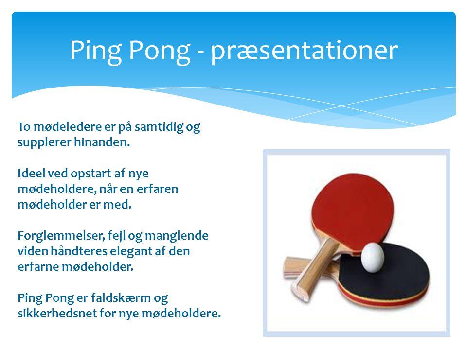 Ping Pong - præsentationer