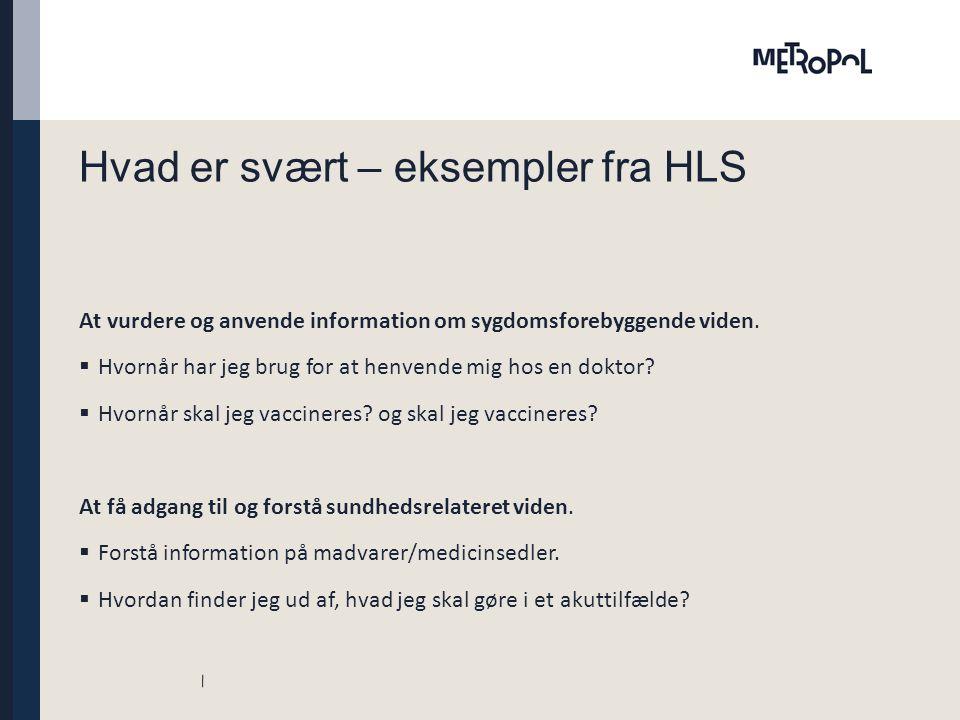 Hvad er svært – eksempler fra HLS