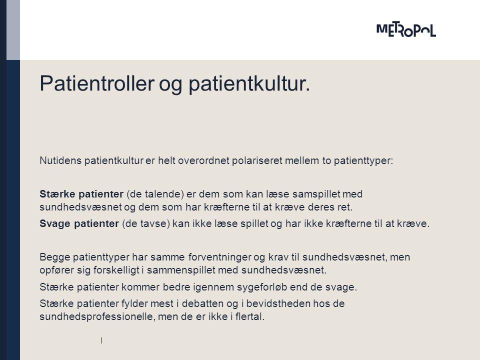 Patientroller og patientkultur.