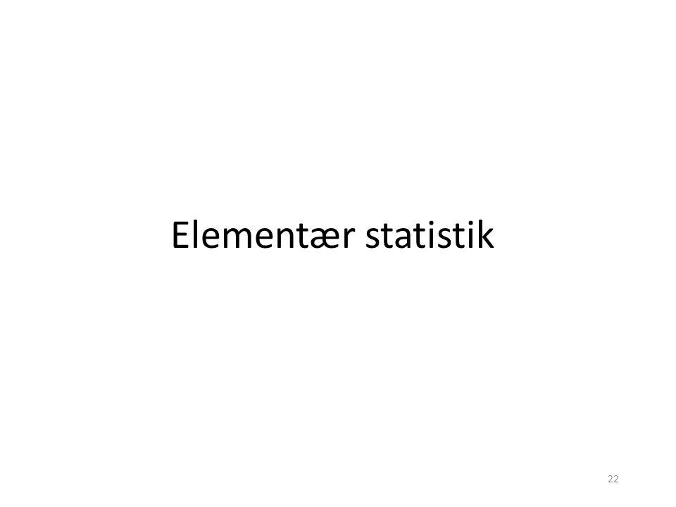 Elementær statistik