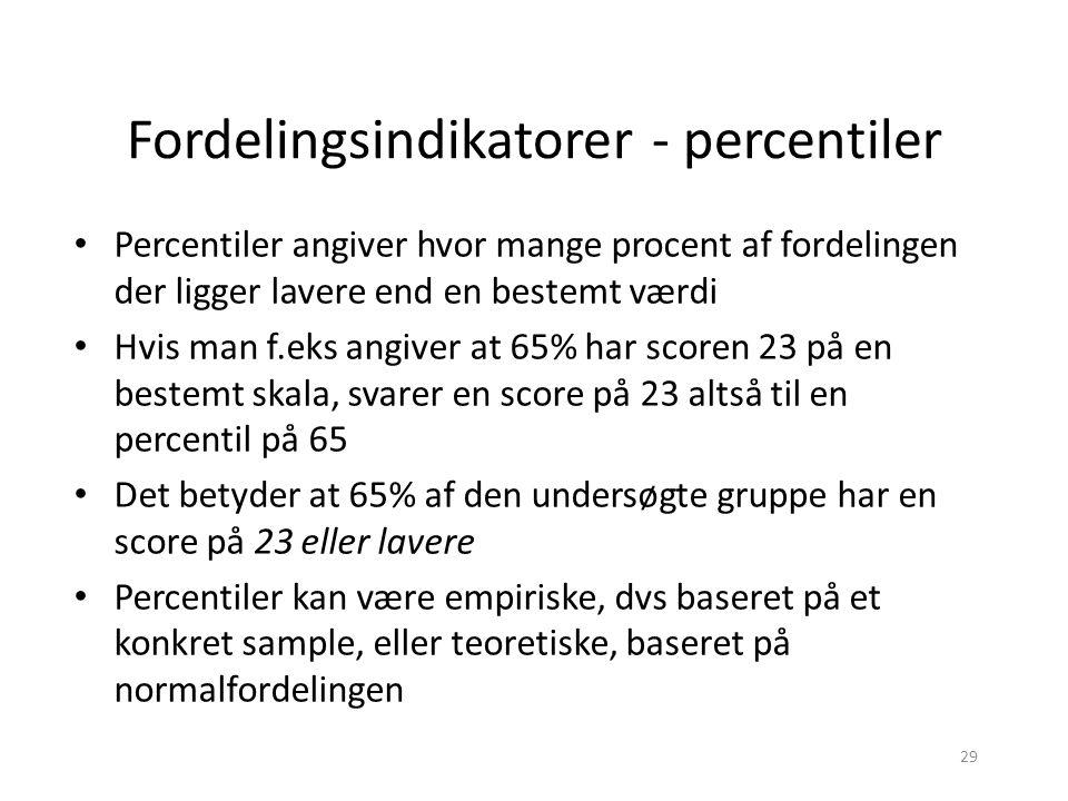 Fordelingsindikatorer - percentiler