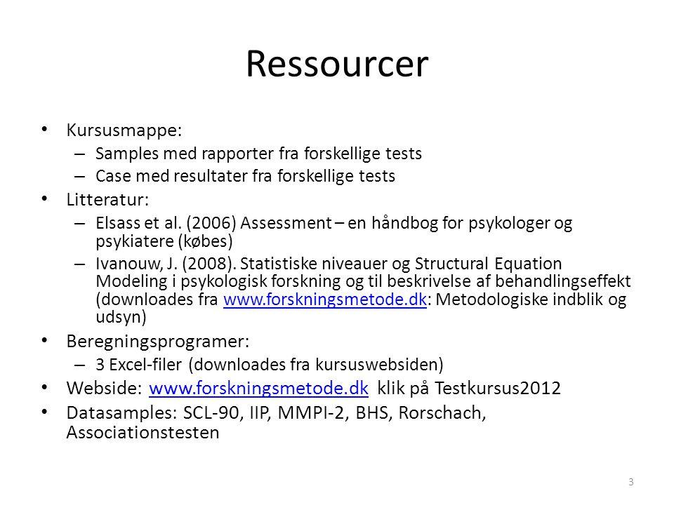 Ressourcer Kursusmappe: Litteratur: Beregningsprogramer: