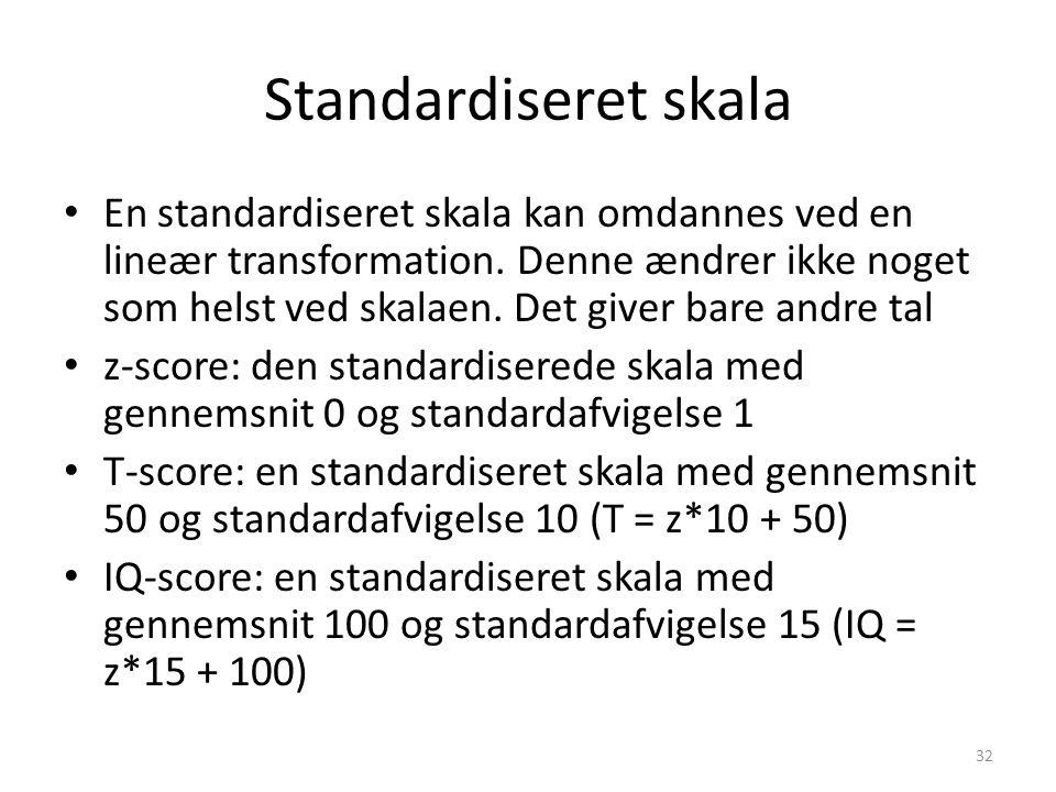 Standardiseret skala