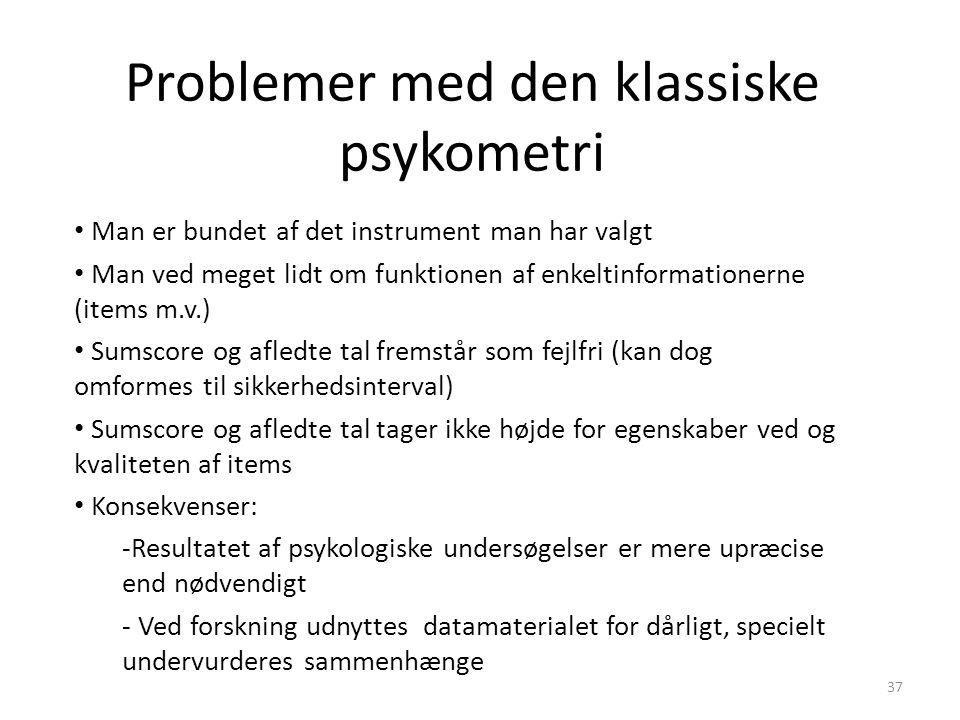 Problemer med den klassiske psykometri