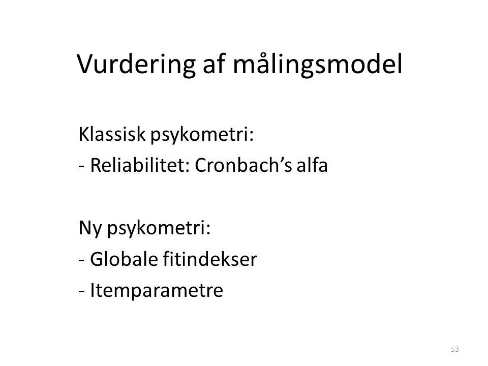 Vurdering af målingsmodel