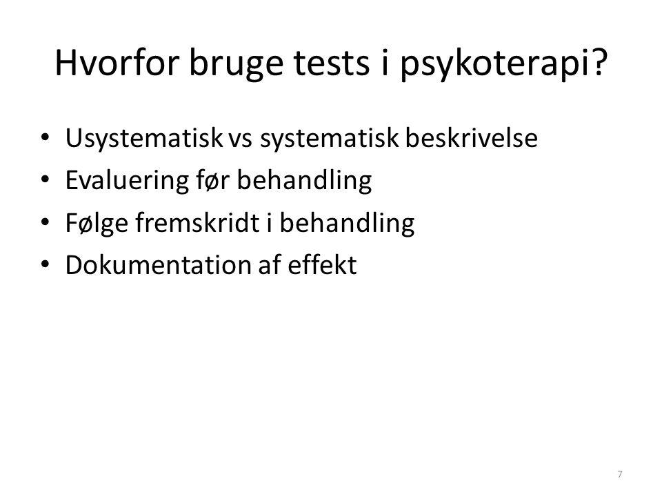 Hvorfor bruge tests i psykoterapi
