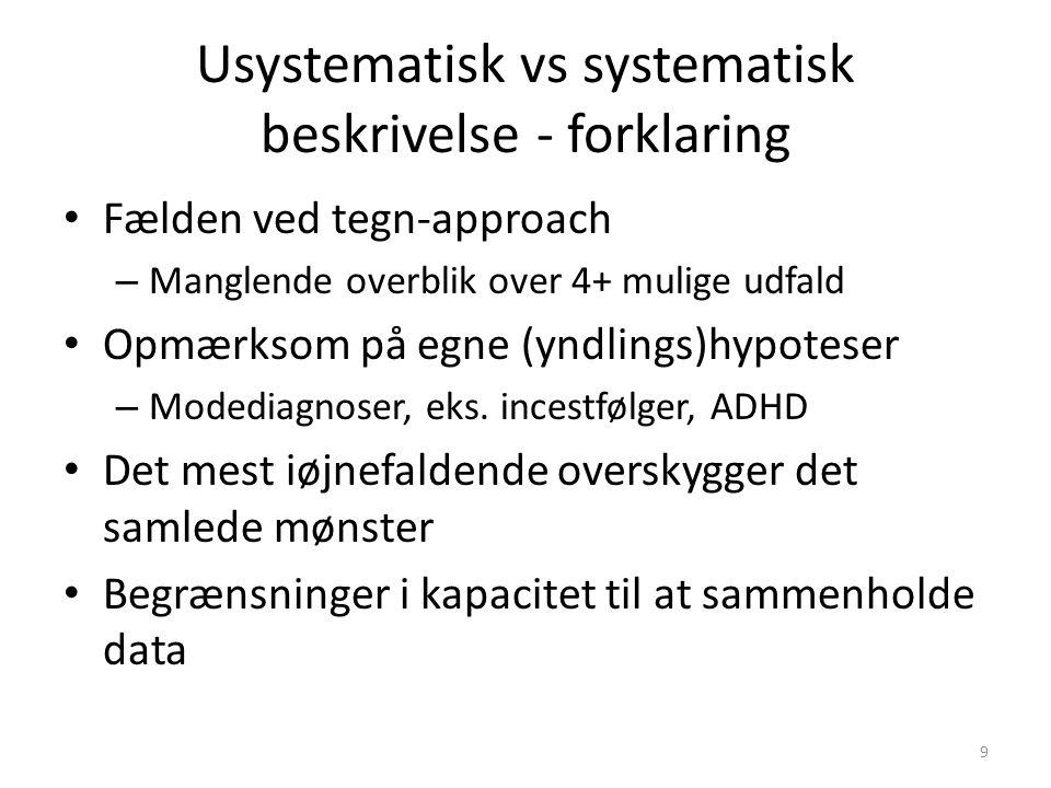 Usystematisk vs systematisk beskrivelse - forklaring
