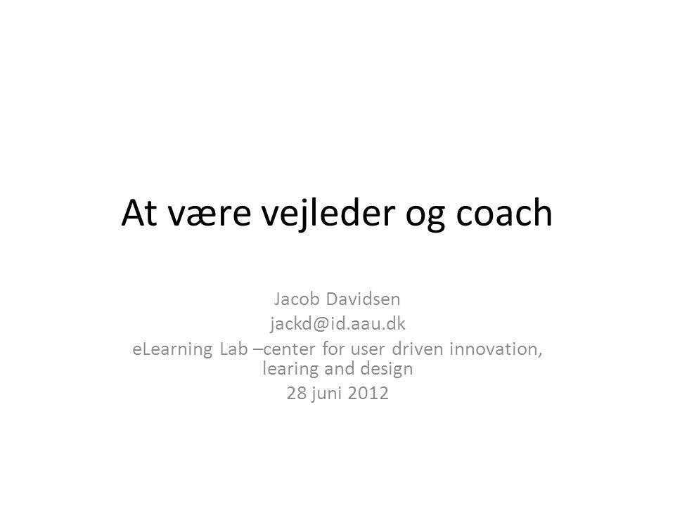At være vejleder og coach