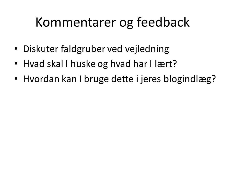 Kommentarer og feedback