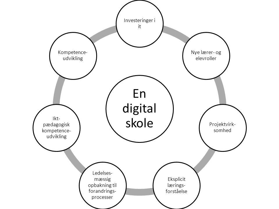 En digital skole Investeringer i it Nye lærer- og elevroller