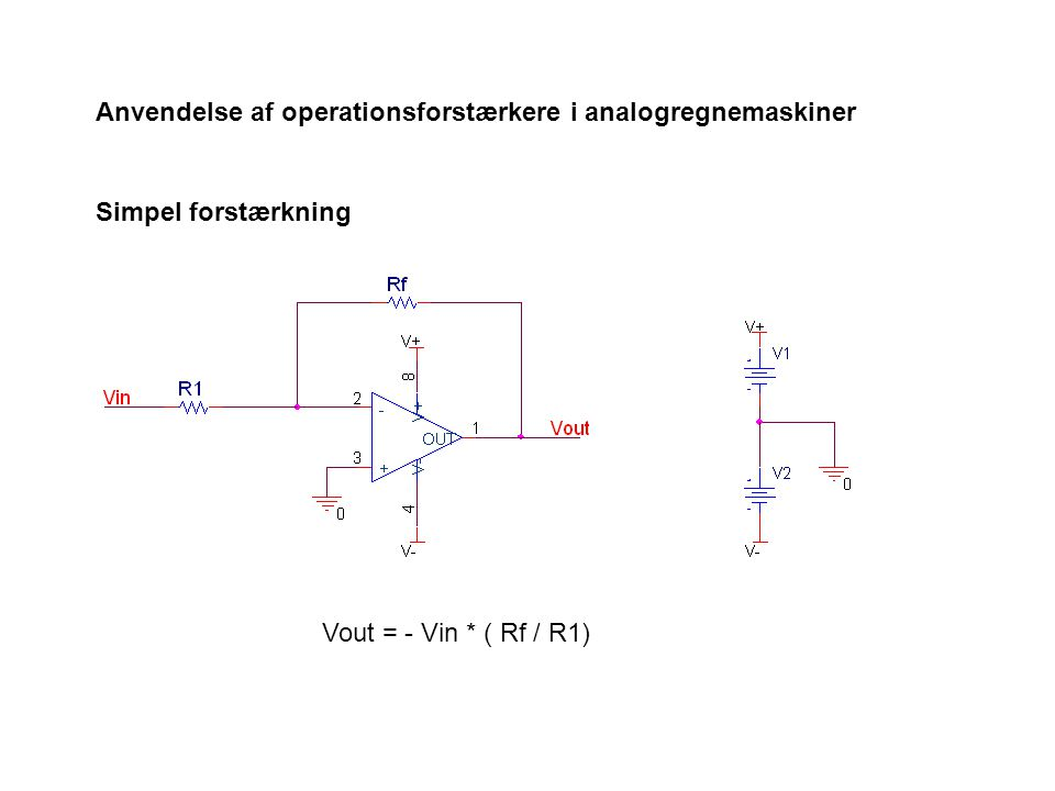 Anvendelse af operationsforstærkere i analogregnemaskiner