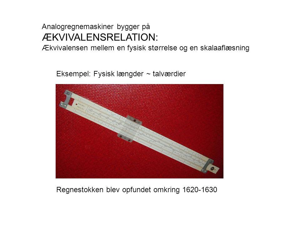 ÆKVIVALENSRELATION: Analogregnemaskiner bygger på
