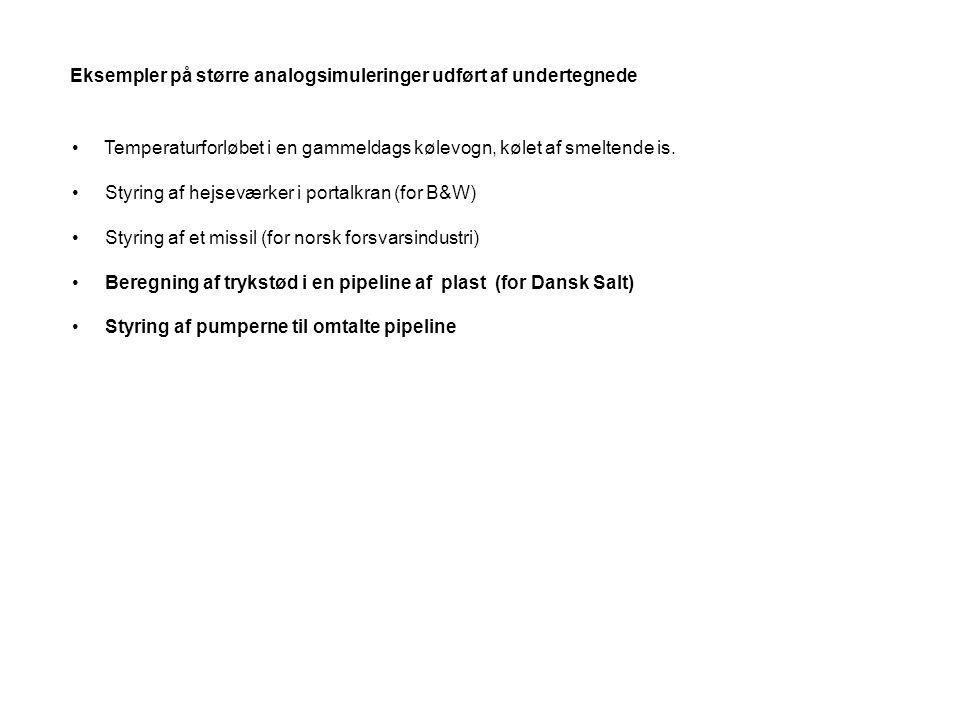 Eksempler på større analogsimuleringer udført af undertegnede