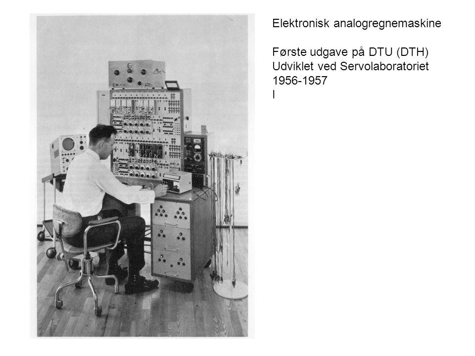 Elektronisk analogregnemaskine