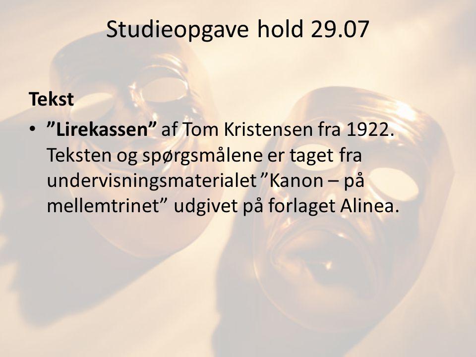 Studieopgave hold 29.07 Tekst