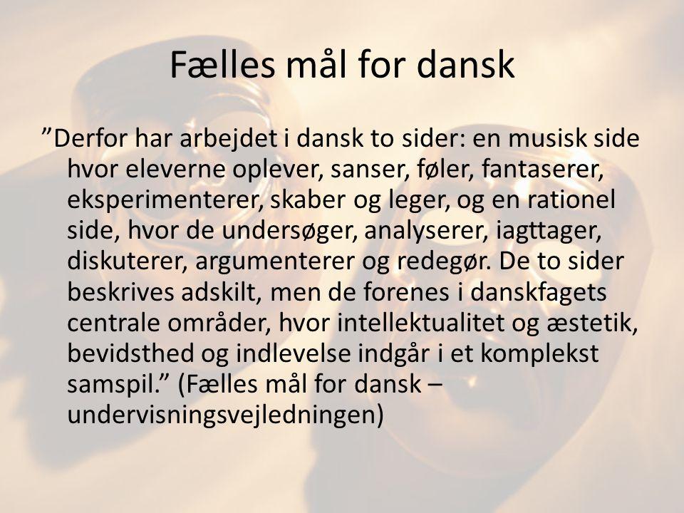 Fælles mål for dansk