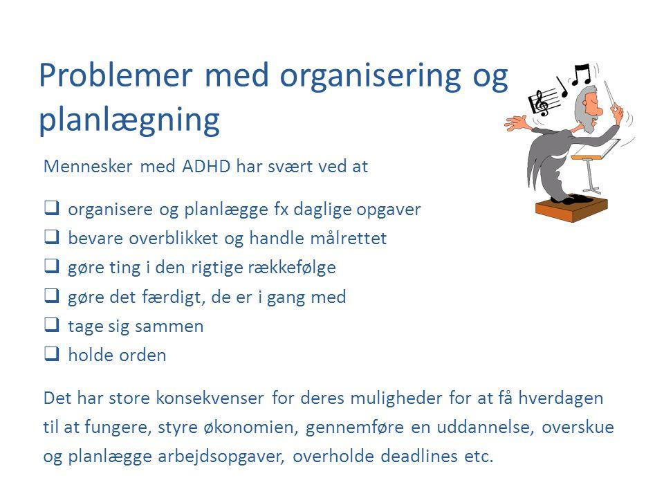 Problemer med organisering og planlægning