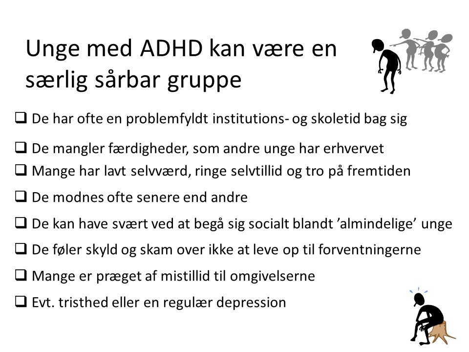 Unge med ADHD kan være en særlig sårbar gruppe