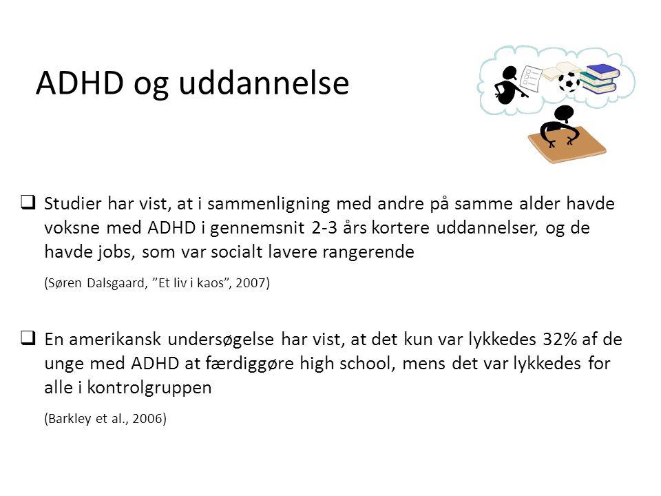ADHD og uddannelse