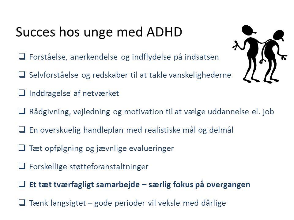 Succes hos unge med ADHD