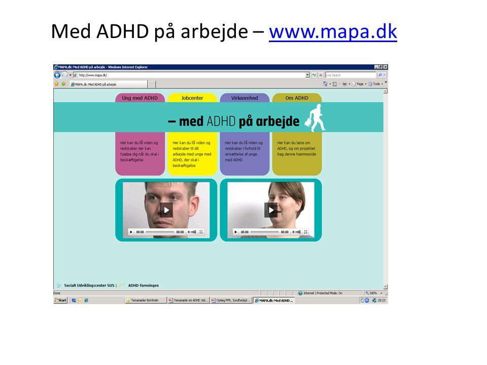 Med ADHD på arbejde – www.mapa.dk
