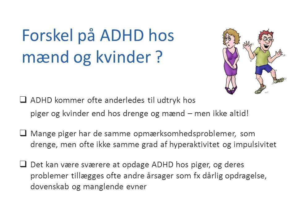 Forskel på ADHD hos mænd og kvinder